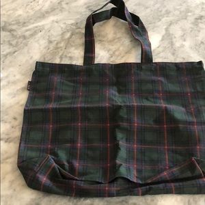 J Crew tote! New with tags! Plaid large tote bag!